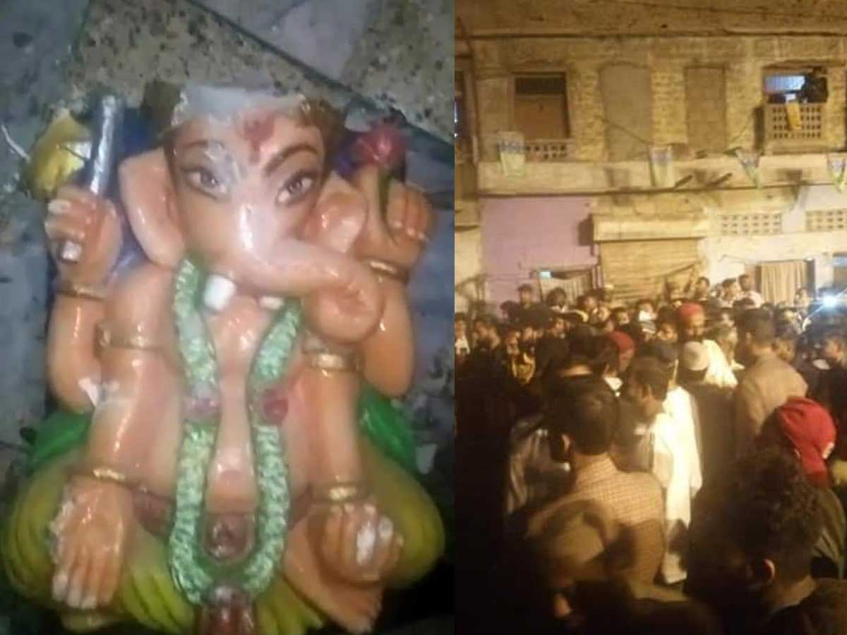 Pakistan- कराची में प्राचीन हिंदू मंदिर में जमकर तोड़फोड़, भगवान गणेश की प्रतिमा को तोड़ा