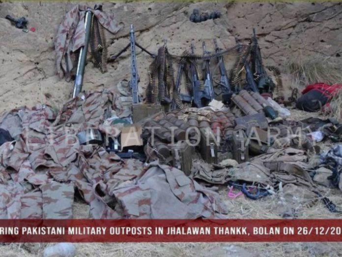 Balochistan Liberation Army killed Pakistani soldiers snatched weapons and took off uniforms