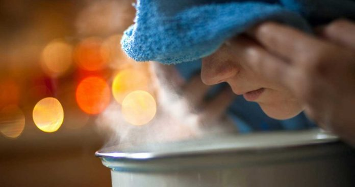 Hot steam is very effective in cold and cough