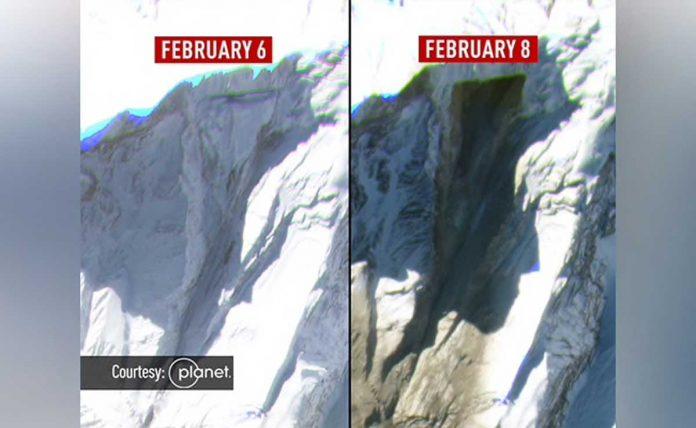 Avalanche in uttrakhand: the scene of devastation, new satellite photos
