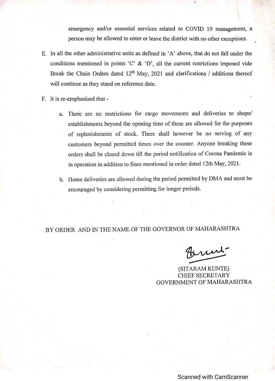 maharashtra order 30-5-21