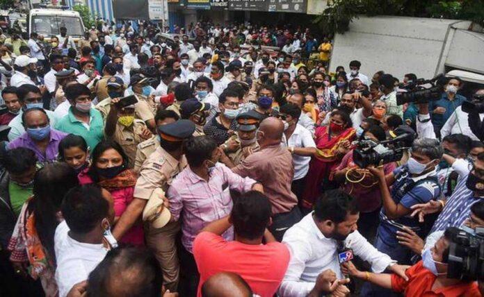 Shiv Sena-BJP workers clash in mumbai