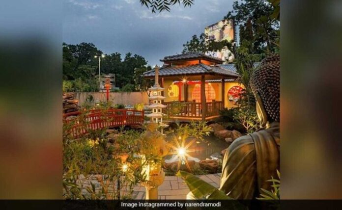 PM Modi shares stunning pictures of Zen Garden in Ahmedabad