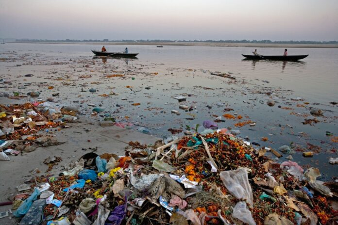 Pollution from Microplastics in River Ganga