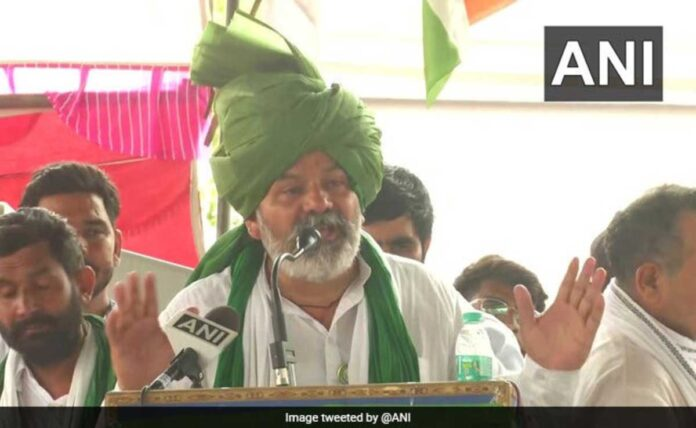 Farmer leader Rakesh Tikait attack on the government's action: