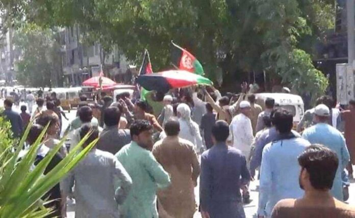 Taliban firing on protesters, many killed