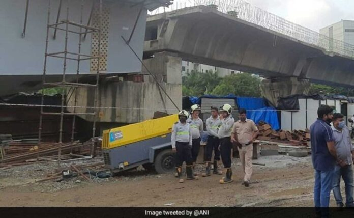 14 injured as flyover under construction collapses in Mumbai