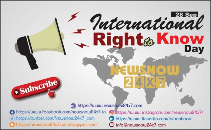 International Right To Know Day 2021