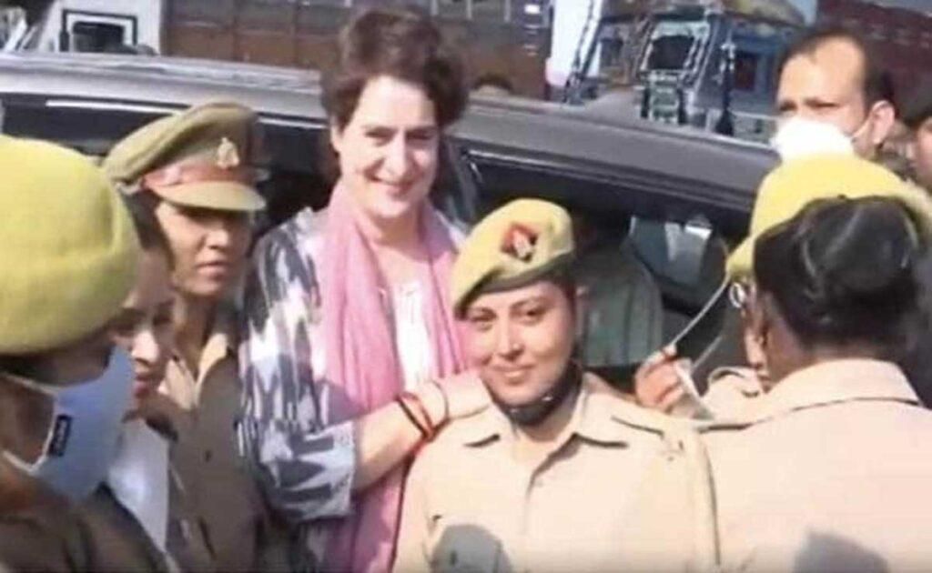 Priyanka Gandhi in custody for trying to meet family of person who died in custody