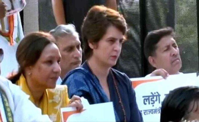 Priyanka Gandhi maun vrat to remove the minister over killing of farmers