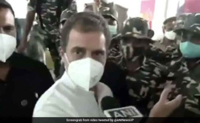 Rahul Gandhi left Lucknow airport after brief altercation with security staff